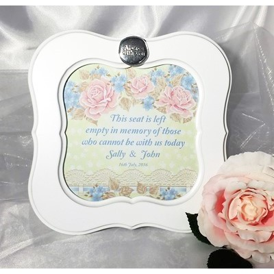 Roses & Lace Wedding Ceremony Seat Frame
