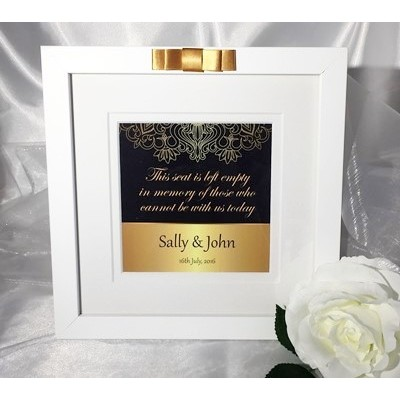 Navy & Gold Wedding Ceremony Seat Frame