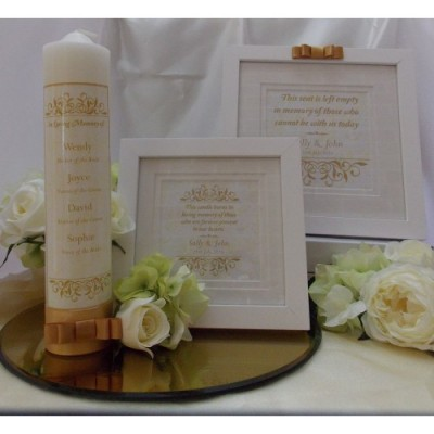 Traditional Gold Complete Wedding Memorial Package