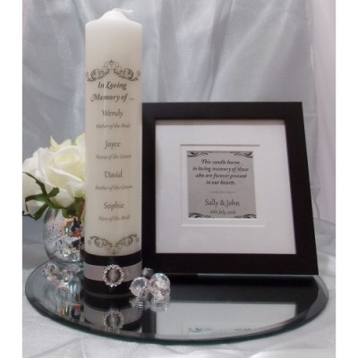 Traditional Black, White & Silver Memorial Table Package
