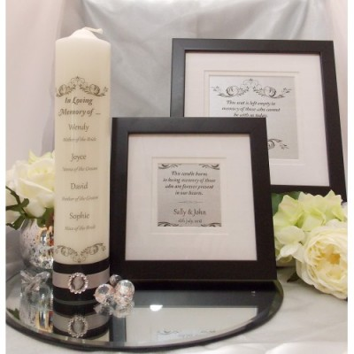 Traditional Black, White & Silver Complete Wedding Memorial Package