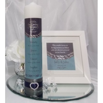 Blue & Silver Wedding Memorial Table Package