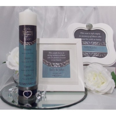 Blue & Silver Complete Wedding Memorial Package