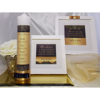 Navy & Gold Complete Wedding Memorial Package